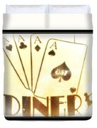 Four Aces Diner Duvet Cover