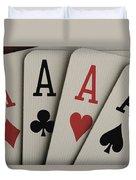 Four Aces Studio Duvet Cover by Darren Greenwood