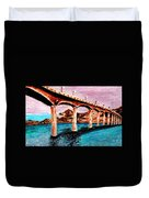 Four Bears Bridge Duvet Cover