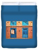 Four Blue Windows Duvet Cover