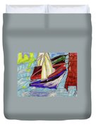 Four Boats Duvet Cover