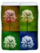 Four Colorful Onion Flower Power Duvet Cover