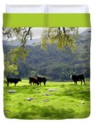 Four Cows At Nojoqui Ranch Duvet Cover