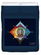 Four Elements, Ages, Humors, Seasons Duvet Cover