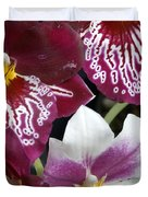 Four Exotic Orchid Blossoms Duvet Cover