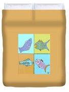 Four Fish Duvet Cover