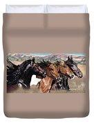 Four Horses Duvet Cover