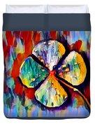 Four Leaf Clover Duvet Cover