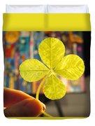 Four Leaf Clover In Studio 2 Duvet Cover