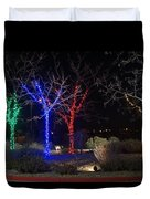 Four Lighted Trees Duvet Cover