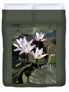 Four Lilies In The Sunlight Duvet Cover