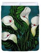 Four Long Lilies Duvet Cover