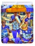 Four Man Band Duvet Cover by Michael Garyet