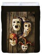Four Masks Duvet Cover