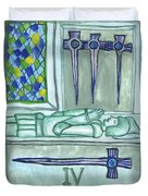 Four Of Swords Illustrated Duvet Cover