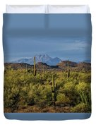 Four Peaks On The Horizon  Duvet Cover