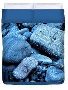 Four Rocks In Blue Duvet Cover