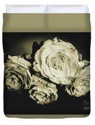 Four Roses Duvet Cover