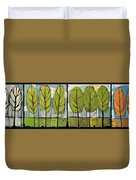 Four Seasons Tree Series Duvet Cover