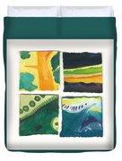 Four Squares Fish Tail Duvet Cover