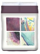 Four Squares Pastelisa Duvet Cover