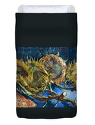 Four Sunflowers Gone To Seed, By Vincent Van Gogh, 1887, Kroller Duvet Cover