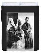 Four Women From Bethlehem Duvet Cover