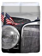 Fourth Of July-chevvy  Duvet Cover by Douglas Barnard