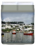 Fowey Harbor Cornwall Duvet Cover