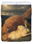 Fox And Hare Duvet Cover