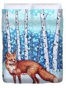 Fox Forest Duvet Cover