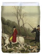 Fox Hunting Going Into Cover Duvet Cover