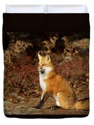 Fox In The Fall Duvet Cover