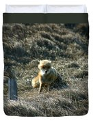 Fox In The Wind Duvet Cover