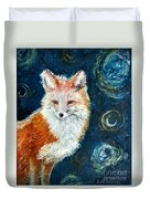 Fox Red  Painting  Duvet Cover