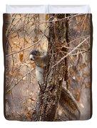 Fox Squirrel Duvet Cover