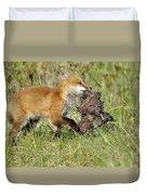 Fox With Dinner Duvet Cover