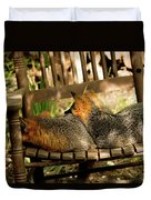 Foxes In A Chair Duvet Cover