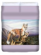 Foxes   Fundamental Foresight Foundation  Duvet Cover