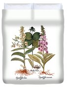 Foxglove And Herb Paris Duvet Cover