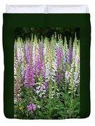 Foxglove Garden - Digital Art Duvet Cover