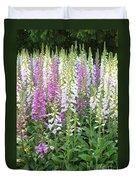 Foxglove Garden - Vertical Duvet Cover
