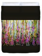 Foxgloves Large Painting Duvet Cover