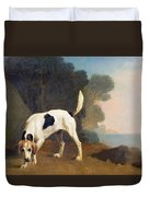 Foxhound On The Scent Duvet Cover by George Stubbs