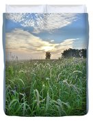 Foxtail Grasses In Glacial Park Duvet Cover