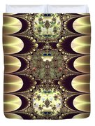 Fractal 42 Cameos In Gold And Ivory Duvet Cover