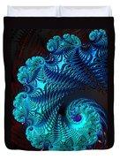 Fractal Art - Blue Wave Duvet Cover