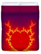 Fractal Burning Heart Duvet Cover