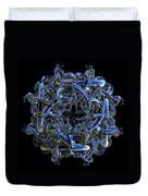 Fractal Complicated Intertwined Emblem Duvet Cover
