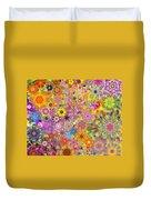Fractal Floral Study 3 Duvet Cover